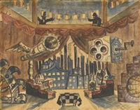 england. stage design for the flea by boris mikhailovich kustodiev