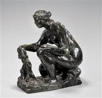 kneeling woman holding a rag by pierre-auguste renoir