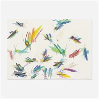 25 grasshoppers to detroit by walasse ting