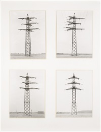four electrical towers (4 works) by bernd and hilla becher