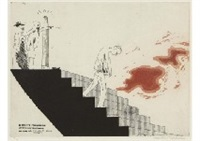 the wallet begins to empty from a rake's progress by david hockney