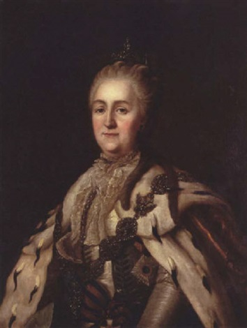 portrait of catherine the great by virgilius erichsen
