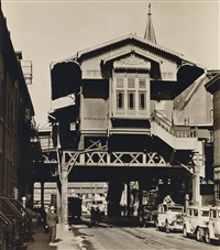 el station, 9th avenue line: christopher street, manhattan by berenice abbott