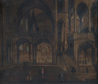 interno di chiesa gotica by hendrick van steenwyck the younger