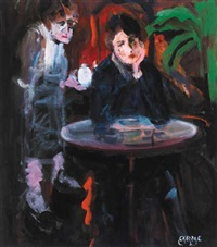 woman in a cafe by george dunne