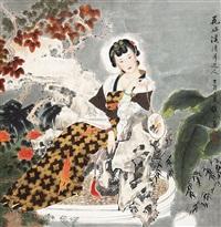 花好溪清月近人 by xiang weiren