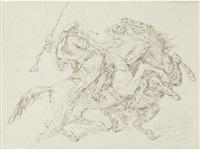 rencontre de cavaliers maures by eugène delacroix