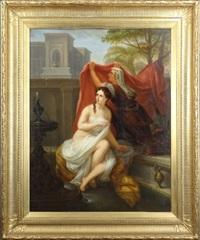 femme sortant du bain by charles picque