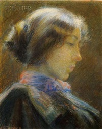 portrait of a woman in profile by j. s. couper