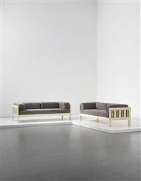 califfo sofas (pair) by ettore sottsass