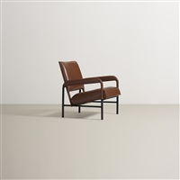 armchair from s.s. île de france by jacques adnet