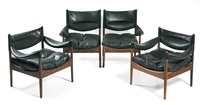 lounge suite (set of 4) by kristian solmer vedel