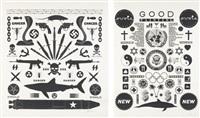 bad (+ good,; 2 works) by ashley bickerton