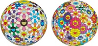 flower ball (3-d) (+ flowerball cosmos (3d) and 2008; 2 works) by takashi murakami