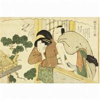 shunga (8 works) by katsukawa shuncho