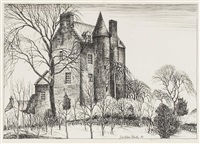 edzell castle, 1930 by james mcintosh patrick