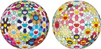 flower ball (3-d) kindergarten (+ flowerball margaret (3d) and 2008; 2 works) by takashi murakami