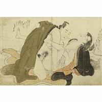 shunga (6 works) by katsukawa shuncho