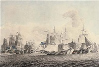 nelson's patent bridge for boarding first rates at the battle of cape st. vincent, 14th february, 1797 by lieutenant john miller