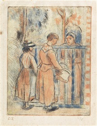 mendiantes by camille pissarro