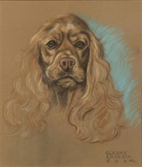 portrait of a cocker spaniel by gladys emerson cook