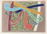 puerto rican blue pigeon (from exotic bird series) by frank stella