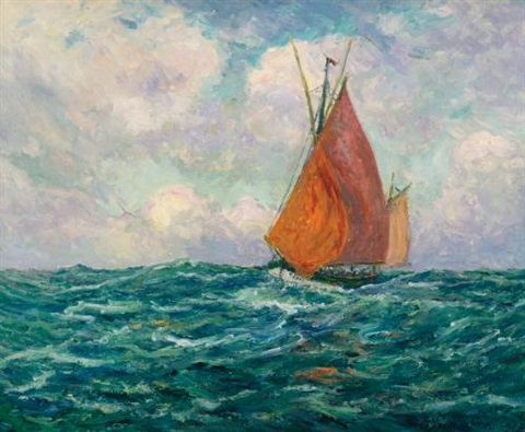 thonier en mer by maxime maufra