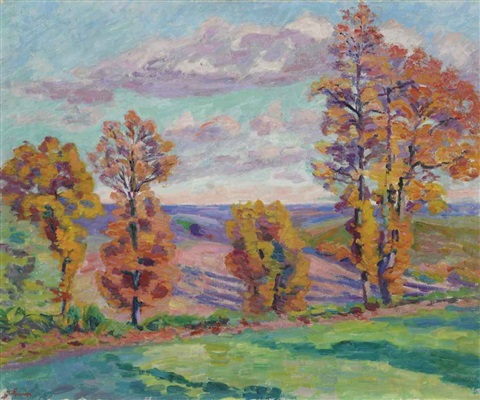 paysage dautomne agay by armand guillaumin