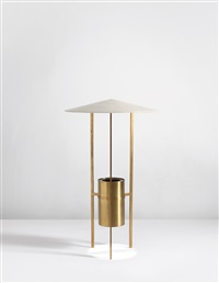 standard lamp, designed for the glass house, new canaan, ct by philip johnson and richard kelly