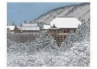 winter light, kiyomizu temple by naoki kadoshima