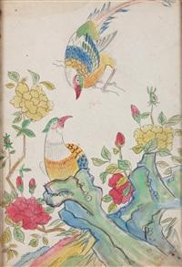 birds and flowers by park soo-keun