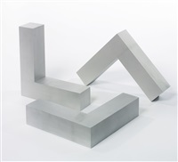 untitled (l-beams) (in 3 parts) by robert morris