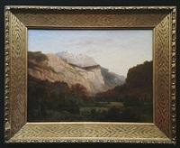 atelier / élève de., paysage de montagne by alexandre calame