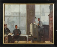 office scene by ralph hillyer avery