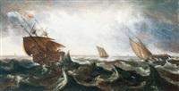 schiffe auf stürmischer see by andries van eertvelt