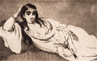 l'odalisque couchee by édouard manet