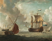 the dutch east india sailing vessel juffer anna by adam silo