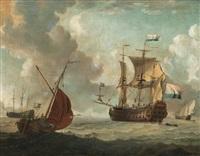 the dutch east india sailing vessel juffer anna by adam silo