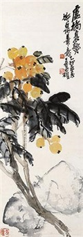 花卉蜜蜂图 by wu changshuo