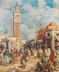 place du marché à tunis by henri saada