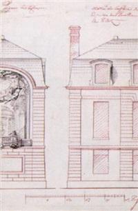 fasadritning för pavillon de tillet by gilles-marie oppenort