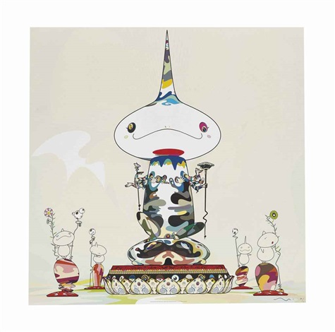 reversed double helix mega power and making a u turn the lost child finds his way home 2 works by takashi murakami
