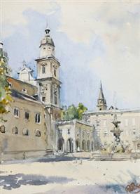residenzplatz, salzburg by rudolf pichler