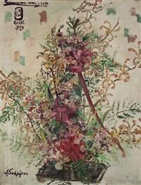 bunga anggrek (orchids) by s. sudjojono