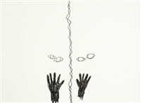two drawings made under hypnosis (2 works) by ann lislegaard
