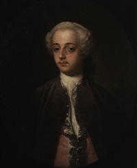 portrait of a gentleman said to be henry harrington by william hogarth
