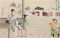 人物 立轴 绢本 by liu lingcang
