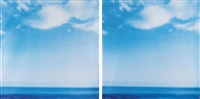 blue horizon (diptych) by jack pierson