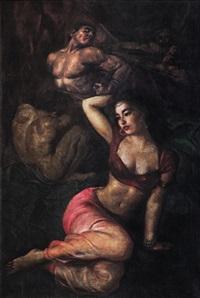 seated lady (spain series) by raden basoeki abdullah
