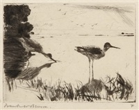 pair of yellowlegs by frank weston benson